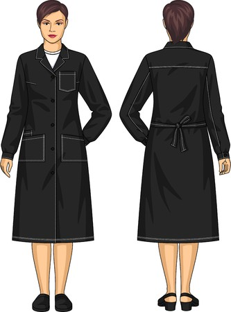 dressing: Dressing gown for the woman with pockets and a belt