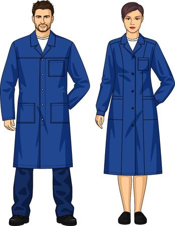 Robe de chambre pour l'homme et la femme avec des poches et une ceinture