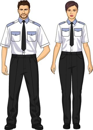 警備員のスーツは、シャツとズボンで構成されています