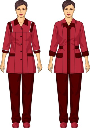 trousers: The suit for the woman consists of a jacket and trousers