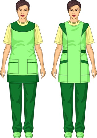 여성을위한 주머니가있는 앞치마 종류