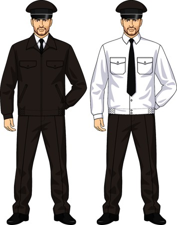 hand guard: The suit of uniform consists of a jacket and trousers Illustration