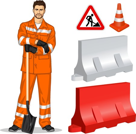도로 건설업자와 고속도로 수리에 대한 속성