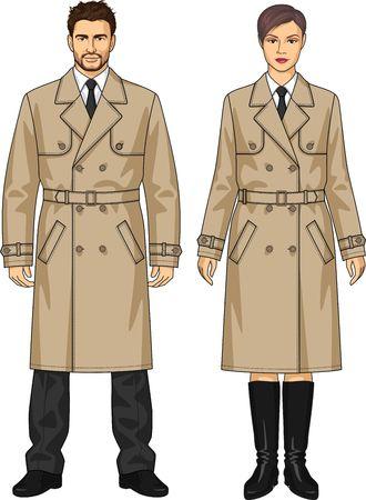 남자와 여자를위한 고전 비옷