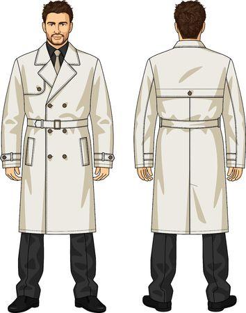back belt: Raincoat for the man with a belt
