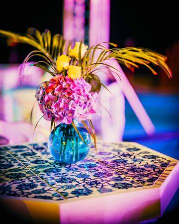 Flower design at gala or wedding celebration