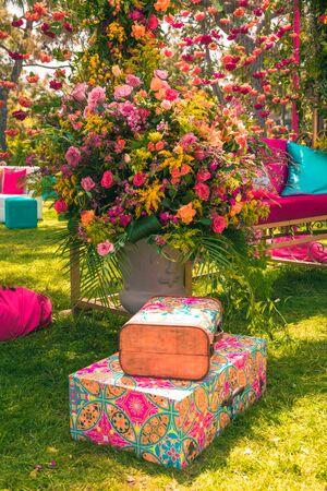 Elegant flower decoration for celebration, wedding, event or birthday party