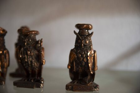 The animal statue, trinket as a decoration object on a flat background