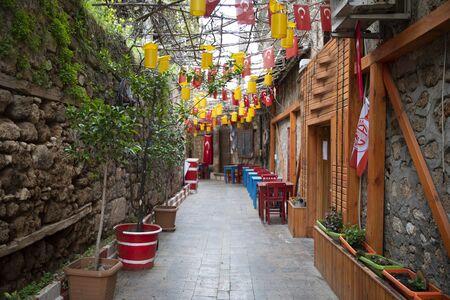 Antalya Old town street view April 2020
