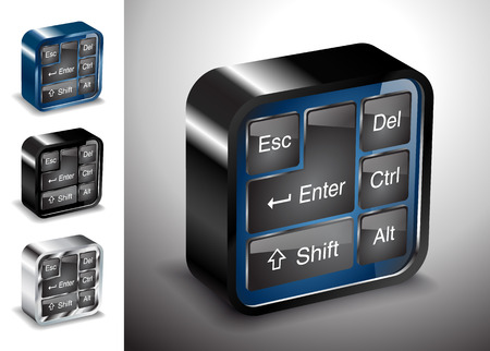 computer electronics icons keyboard button device metal Vector