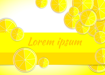 morsel: illustration lemon yellow backgrounds template fruits Illustration