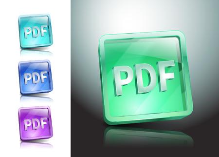 pdf icon button Vector