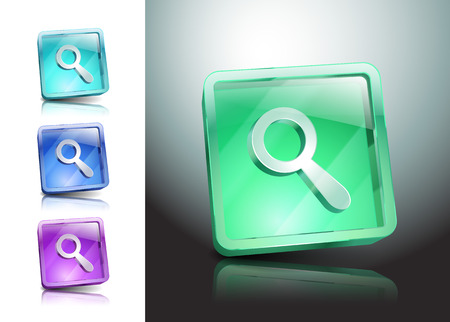 a round of inspection: Glass Magnifier Icon