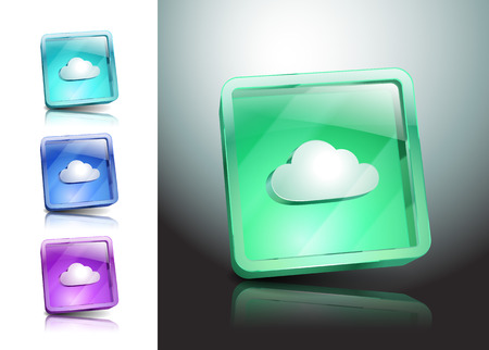 cloud symbol illustration Vector