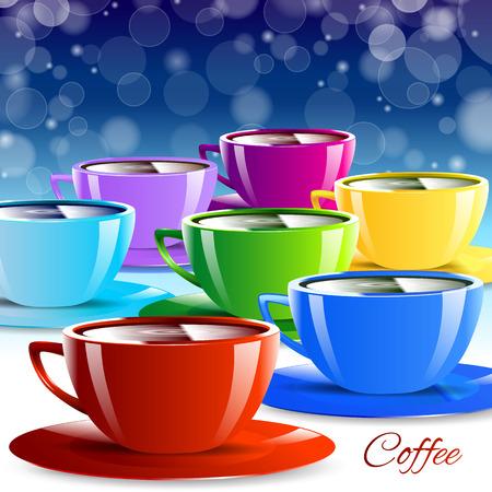 color paper: Diferentes vasos de papel de color aislado bebida coloridos