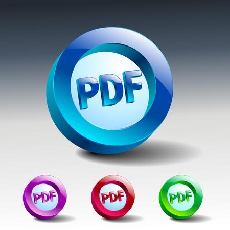 pdf icon button internet document file symbol Vector