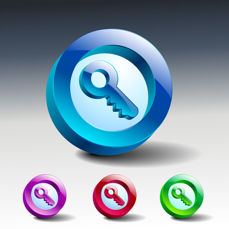 vector key icon secure security web lock Vector