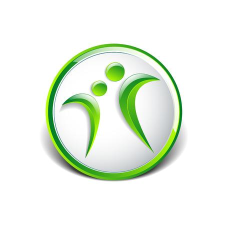 Vector conceptual icon such logo healthy living