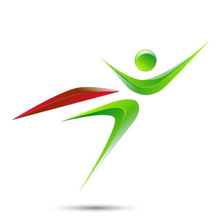 Super hero business man flying logo icon