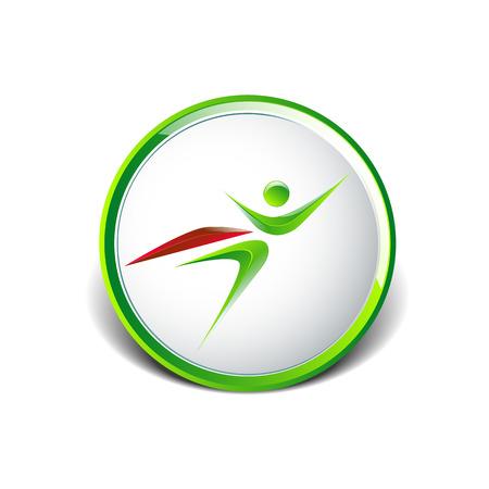 Super Hero Geschäftsmann fliegenden logo icon Illustration