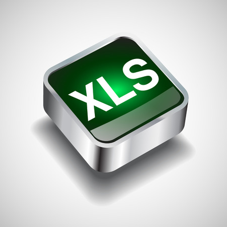 xls: Xls file icon vector Illustration