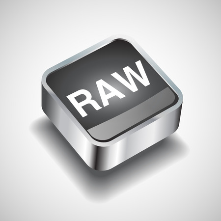 raw: Raw file icon vector