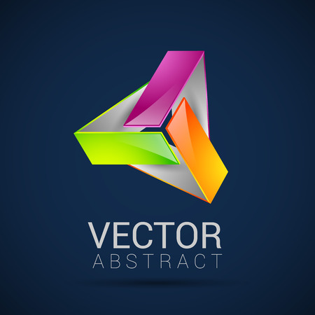 abstract element shape vector design icon ribbons Vector