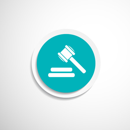 bidder: vector icon gray background gavel law legal hammer