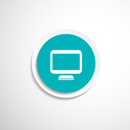 hdtv: Computer display isolated icon screen monitor isolated Illustration