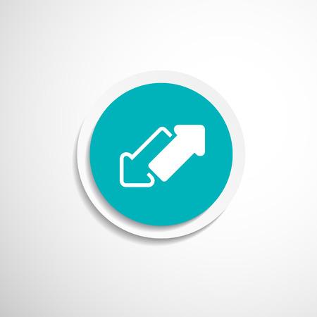 web side: 2 lado de la flecha del vector p�gina web sin fisuras dise�o