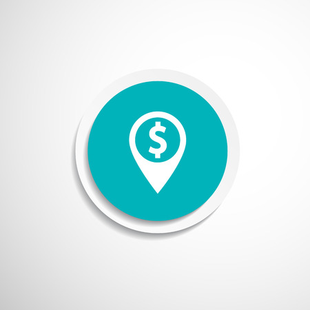 Map pointer with dollar sign icon money Vector