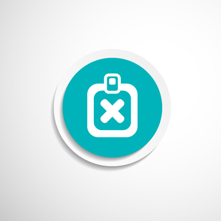 reject: Vector Form X Mark Icon flat survey reject checklist Illustration