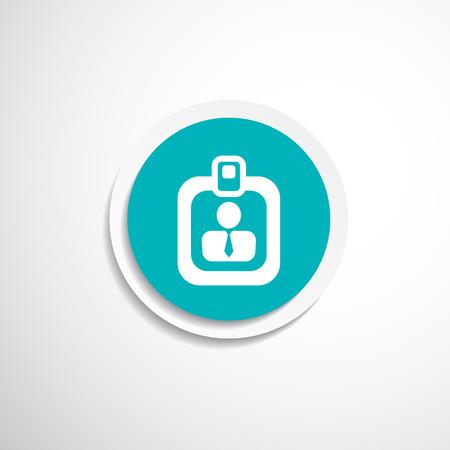 Vector identification card icon  vector profile search business