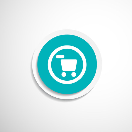 chrome cart: buy now icon button market sell retail business Illustration