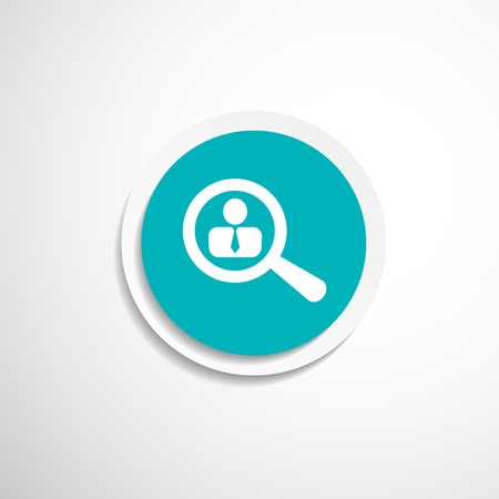 business symbol: Search people icon human recruitment business symbol