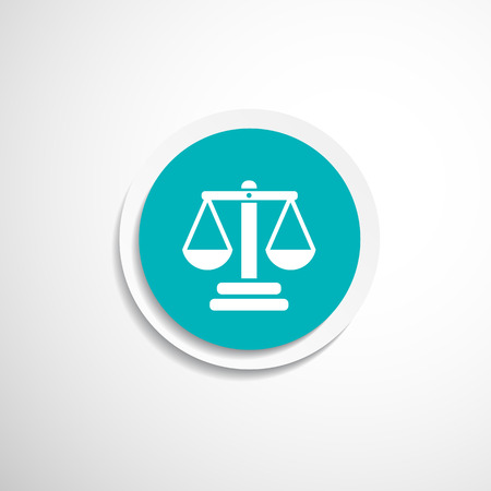 acquittal: justice vector icon vector symbol measurement balance Illustration