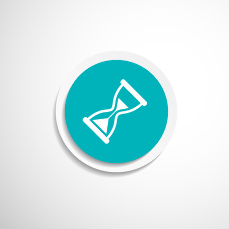 Hourglass. Vector illustration icon time watch wait hourglass clock 일러스트