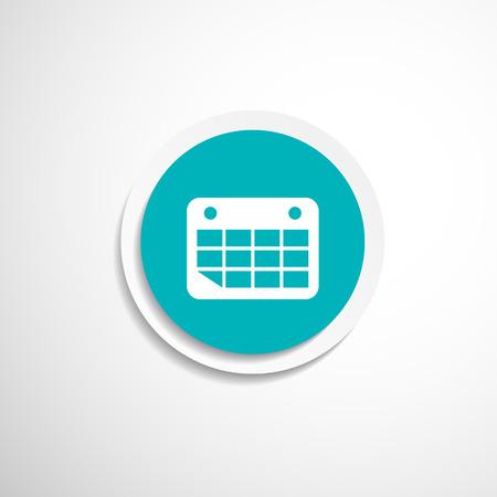 Vector calendar icon. Flat design with long shadow Vector