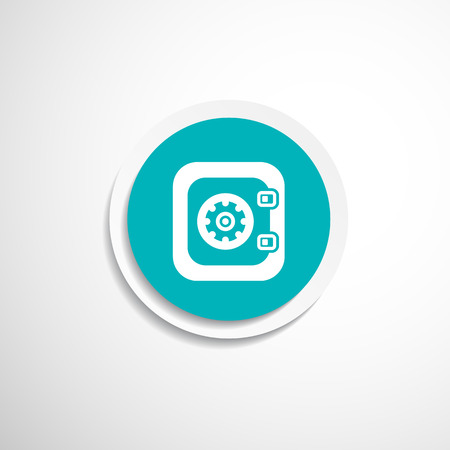 safe lock: Flat icon of safe lock finance bank security protection safety Illustration