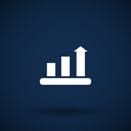 sales graph: Infographic chart  vector icon vector graph market business Illustration