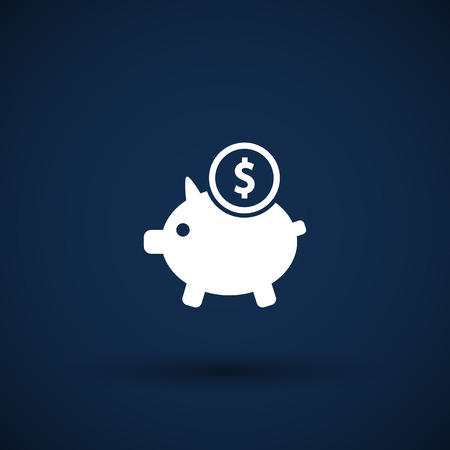 Piggy icon bank economy coin money piggy account savings