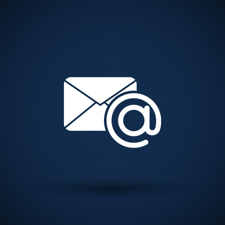 outbox: vector illustration email  icon outbox flat box inbox Illustration