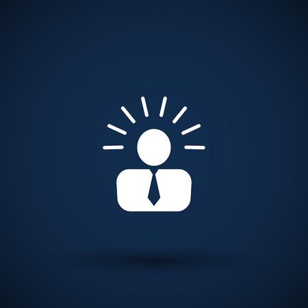 icon suggestion idea concept lightbulb people person Vector