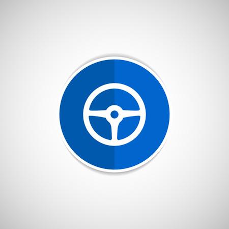Rad-Symbol Vektor-Scheibe Auto Kreis Fahrzeug