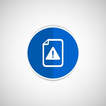 browser business: Security warning in browser icon alert application attention bug business
