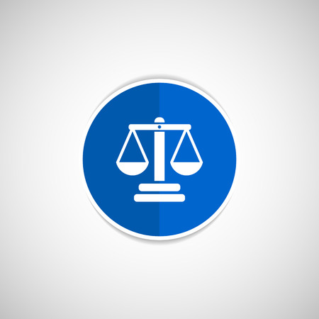 acquit: justice vector icon vector symbol measurement balance Illustration