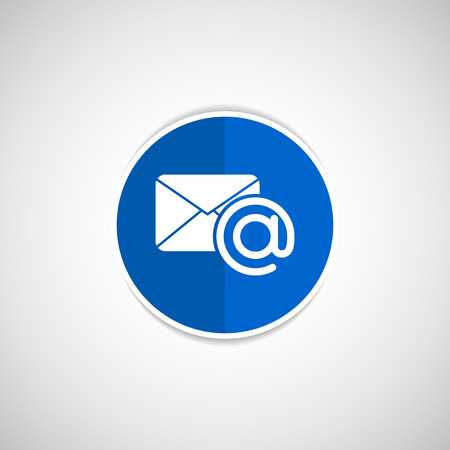 vector illustration email  icon outbox flat box inbox Vector