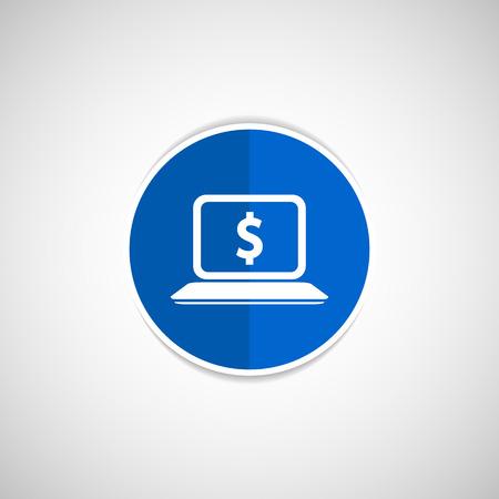 laptop screen: Pantalla del port�til de alta calidad con el signo de d�lar. Concepto de la econom�a.