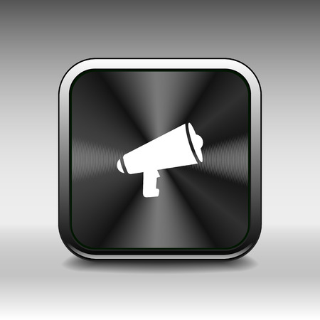 scream: speaker icon broadcasting speak isolated scream speech Illustration
