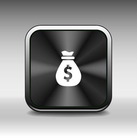 easy money: Vector money bags Easy to edit layers icon funds buy Illustration
